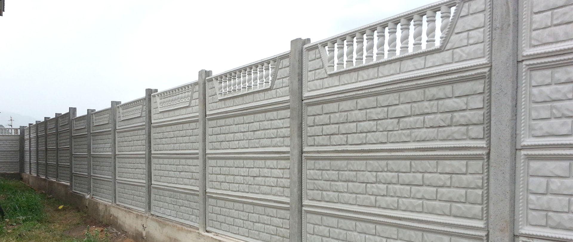 Забор из бетона декоративный купить в бетон огнеупорный состав